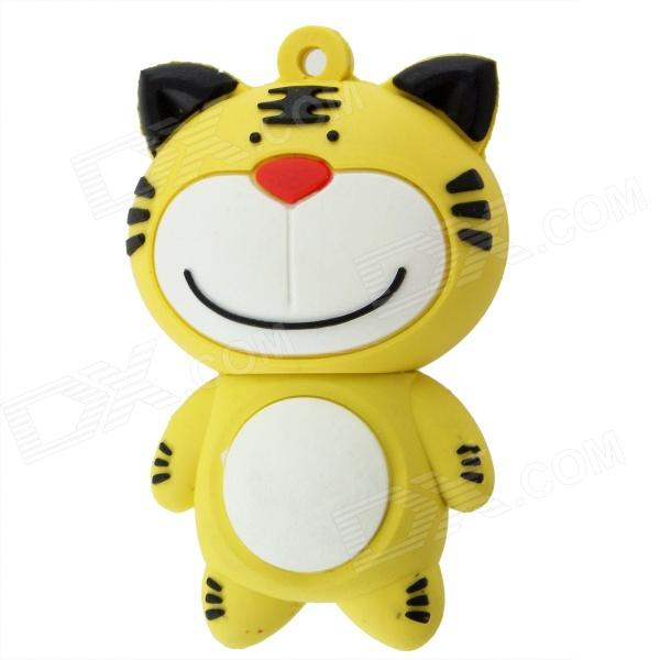 Cute Cartoon Cat Style USB 2.0 Flash Drive - Yellow (4GB)