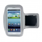 Outdoor Protective Lycra Fabric Armband for Samsung i9300 Galaxy S3 - Silver + Black