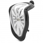 Novelty L Shaped Melting Clock - Black (1 x AA)