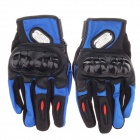 Fashionable Motorcycle Hand Protection Gloves - Black + Blue (Size L / Pair)