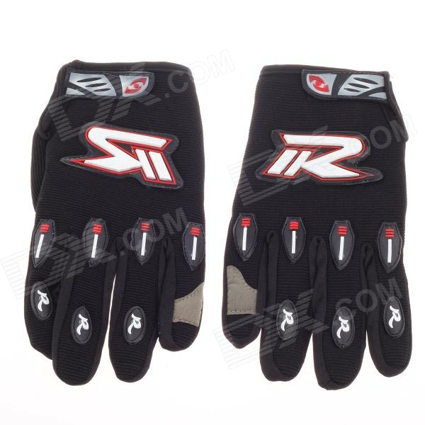 Fashionable Motorcycle Hand Protection Gloves - Black + Red + White (Size L / Pair)