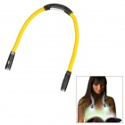 Flexible 4-LED Flash Hands-Free Reading White Hug Light Lamp - Yellow + Black (2 x AAA)