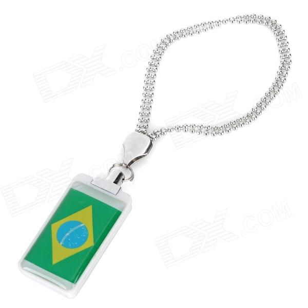 Brasilien-Flaggen-Stil USB 2.0 Flash Drive - Green + White (8GB)