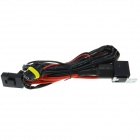 H1 Car HID Relay Cable Wiring Harness - Black + Red (145cm-Cable)
