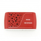 HS-130 Portable MP3 Media Player Speaker w/ Micro SD / TF / USB - Red
