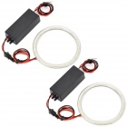 95MM 66-SMD 3528 LED Cool White Light Car Angel Eyes Daytime Running Light Lamp (12~24V / 2 PCS)