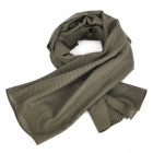 Outdoors Tactical Mesh Face Veil Head Cover Scarf - Army Green