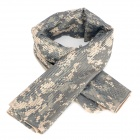Outdoors Tactical Mesh Face Veil Head Cover Scarf - Camouflage
