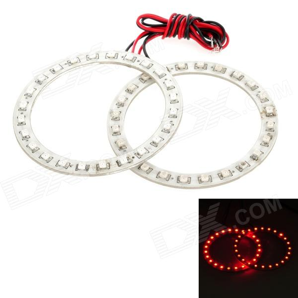 3.6W 192lm 24-SMD 1210 LED Red Light Car Angle Eyes Decoration Lamp (2 PCS / 12V)