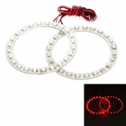 3.6W 192lm 24-SMD 1210 LED Red Light Car Angle Augen Dekoration Lamp (2 PCS / 12V)