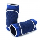 Sports Adjustable Sponge Kneecap Support - Blue (Pair)