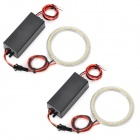 72MM 51-SMD 3528 LED Cool White Light Car Angel Eyes Daytime Running Light Lamp (12~24V / 2 PCS)