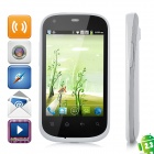 "i667 Android 2.3 GSM Bar Phone w / 3,5 ""kapazitiven Bildschirm, Wi-Fi, Quad-Band, Dual-SIM - White"