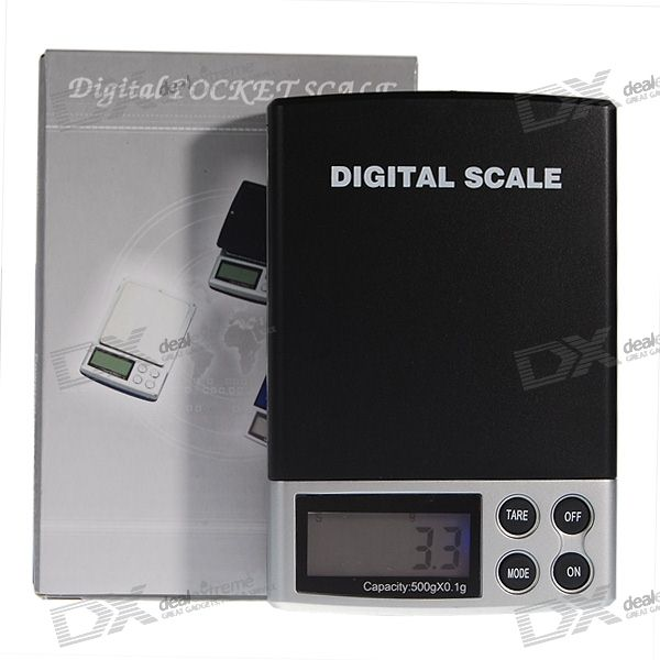Pocket Precision Digital Scale (500g Max / 0.1g Resolution) lcd display mini pocket precision digital scale 500g x 0 1g 2 aaa