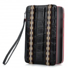 Alligator Pattern Protective PU Leather Case for Samsung P3100 - Black