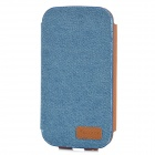 SamDi Retro Protective PU Leather + Denim Case for Samsung Galaxy S3 i9300 - Blue + Brown