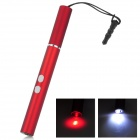 4-in-1 Capacitive Screen Stylus w/ 1-LED / Red Laser / 3.5mm Anti-Dust Plug - Dark Red (3 x LR621)