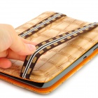 Alligator Pattern Protective PU Leather Case for Samsung Galaxy Tab P3100 - Beige + Orange