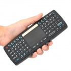 Ultra Mini 2.4GHz Wireless Handheld Keyboard w/ Control Touchpad - Black