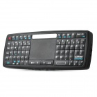 Ultra Mini 2.4GHz Wireless Handheld Keyboard w / Control Touchpad - Schwarz