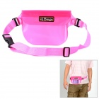 5M Waterproof Protective PVC Waist Bag for Camera - Pink