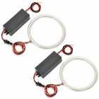 Round Shape 10cm 72-SMD 3528 LED Cool White Angel Eyes Car Daytime Running Light (12~24V / 2 PCS)