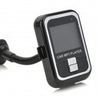 1.5'' LCD Long Flexible Pipe Wireless Car MP3 Player FM Transmitter w/ USB / SD / TF - Black