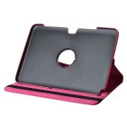 Grado de protección giratorio de 360 ​​PU Leather Case for Samsung Galaxy Note N8000 10,1 - Deep Pink
