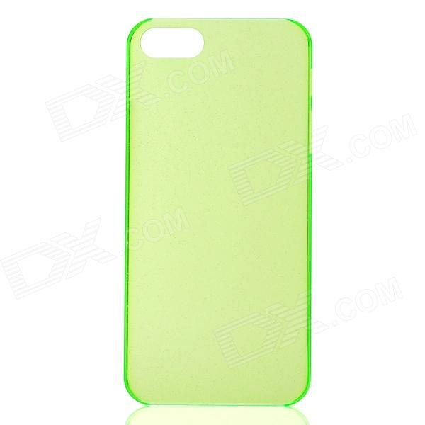 Ultra-Thin Protective PC Glitter Back Case for Iphone 5 - Green gradient color glitter powder tpu pc phone case for iphone x