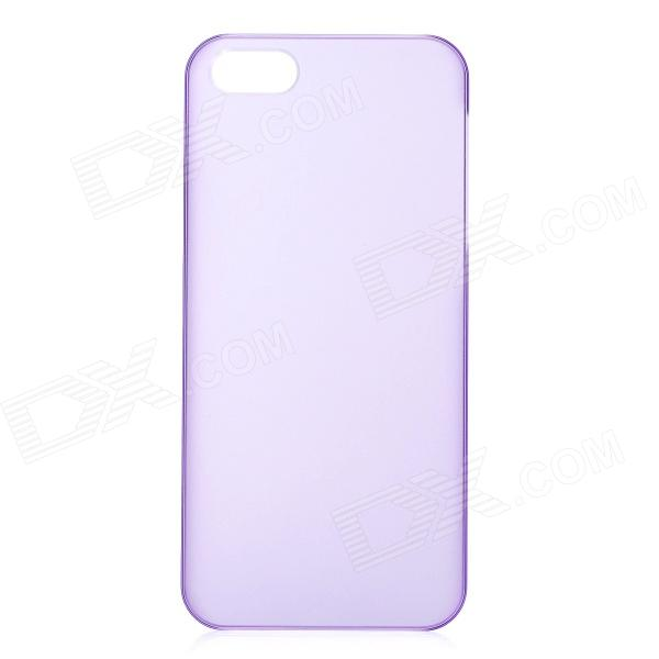 Ultra-Thin Protective Plastic Matte Back Case for Iphone 5 - Purple