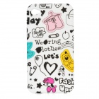Cute Cartoon Pattern Protective Silicone Back Case for iPhone 4 / 4S