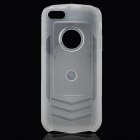 Protective Silicone Matte Back Case for iPhone 5 - Translucent