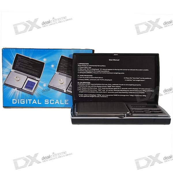 Pocket Precision Digital Scale (1000g Max / 0.1g Resolution)