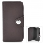 Protective Flip-Open PU Leather Cover with Plastic Back Case for iPhone 5 - Coffee
