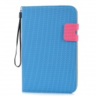 Basketball Grain Protective PU Leather Case for Samsung Galaxy Tab P3100 - Blue