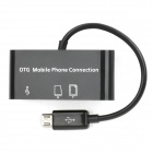 USB 2.0 SD / Micro SD Card Reader for Samsung - Black (Max.16GB)