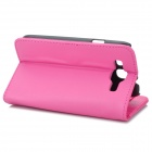Protective PU Leather Case w/ Card Slots for Samsung i9300 Galaxy S3 - Deep Pink