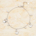 Stylish Swan Pendants 18KGP Alloy Anklet - Silver