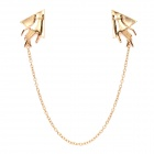 Elegant Hand Style Alloy Shirt Collar Tips Necklace - Golden
