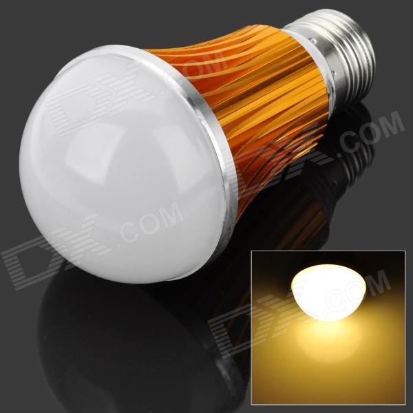 E27 7W 4000K 700lm 14-SMD 5730 LED Warm White Light Bulb - White + Golden (85~265V) cxhexin e27cx24 e27 7w 3000k 500lm 24 5630 smd led warm white light white ac 85 265v
