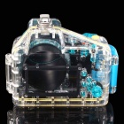 Meikon-12 Waterproof PC Camera Housing Case for Sony NEX3 w/ 18~55mm Lens - Transparent + Blue