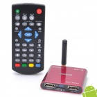 Jesurun Mini Xplus II Android 4.0 Google TV Player w/ Wi-Fi / 1GB RAM / 8GB ROM / HDMI / AV - Red
