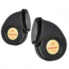 HT-KO12 Auto Parts Car Electric Horn Speaker - Black (Pair / DC 12V)