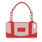 Special Handbag Style Protective Silicone Back Case for Iphone 5 - Red