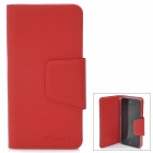 Ultra-thin Protective Flip-Open PU Leather Cover with Plastic Back Case for Iphone 5 - Red