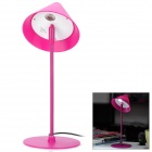 Youyang UY002 1W 6000K USB 1-LED White Light Eye-Protective Reading Lamp w/ Adapter - Deep Pink