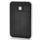Solar Powered 5000mAh Battery Power Charger with Dual USB / Adapters - Black + White