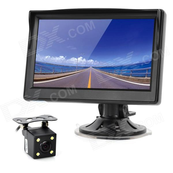 5 LCD Display Screen Car Rear-View Suction Cup Security Monitor - Black (480 x 800 Pixels) original new arrival 2018 adidas originals 3 4 pt ac men s shorts sportswear