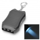 """Portable Solar Powered """"1200mAh"""" Mobile Battery Power Charger with 3-LED Light - Black"""