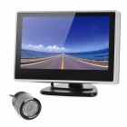 4&quot; LCD Display Screen Car Rear-View Stand Security Monitor - Black + Silver (480 x 272 Pixels) 